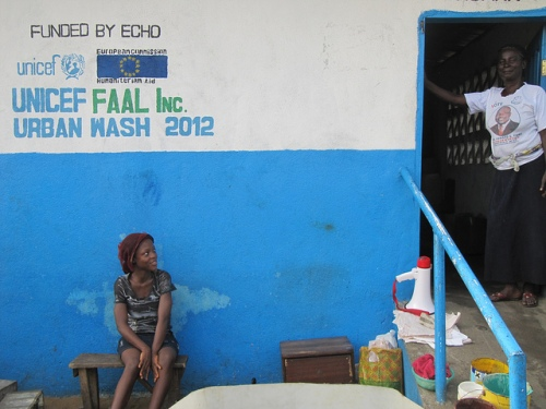 Public sanitation facility in Liberia. Throughout the developing world, public sanitation is considered a luxury, something many people have to live without - and a far cry from Western standards.